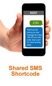 Shared SMS Short Code